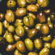 Flat-lay of fresh harvested pickled Mediterranean olives, close-up - PhotoDune Item for Sale
