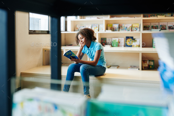 Girl Reading Book - Stock Photo - Images