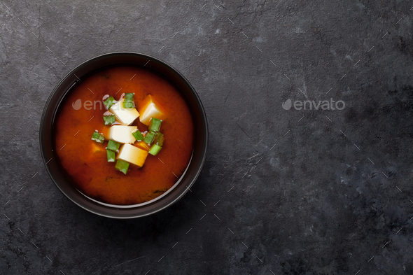 Miso soup traditional japanese soup - Stock Photo - Images