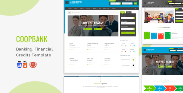 CoopBank - Banking, Financial, Credits Template by iwthemes