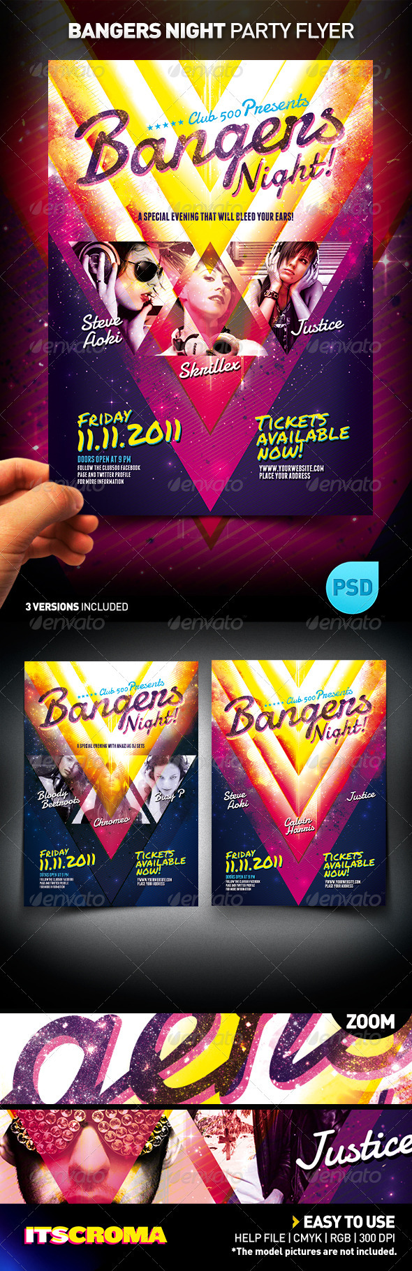 Bangers Night Party Flyer / Act 1 - Clubs & Parties Events