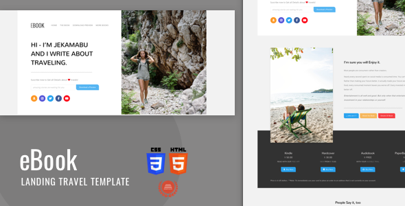Ebook - Html5 Landing Template With Bootstrap 4 by iwthemes