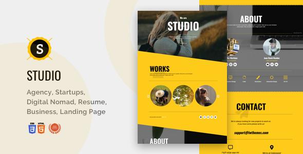Studio - Portfolio, Creative, Corporate, Business Landing Page by iwthemes