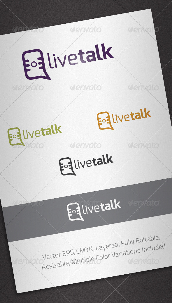 Live Talk Logo Template - Abstract Logo Templates