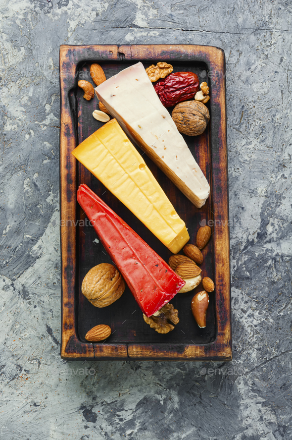 Delicious cheese on the table - Stock Photo - Images