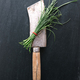 Chive on vintage meat cleaver - PhotoDune Item for Sale