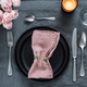 Beautiful table setting on gray linen tablecloth - PhotoDune Item for Sale
