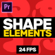 Shape Elements Pack // MOGRT - VideoHive Item for Sale