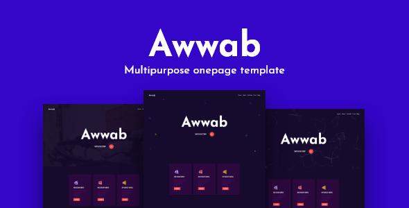 Awwab - Multipurpose HTML5 Onepage Template