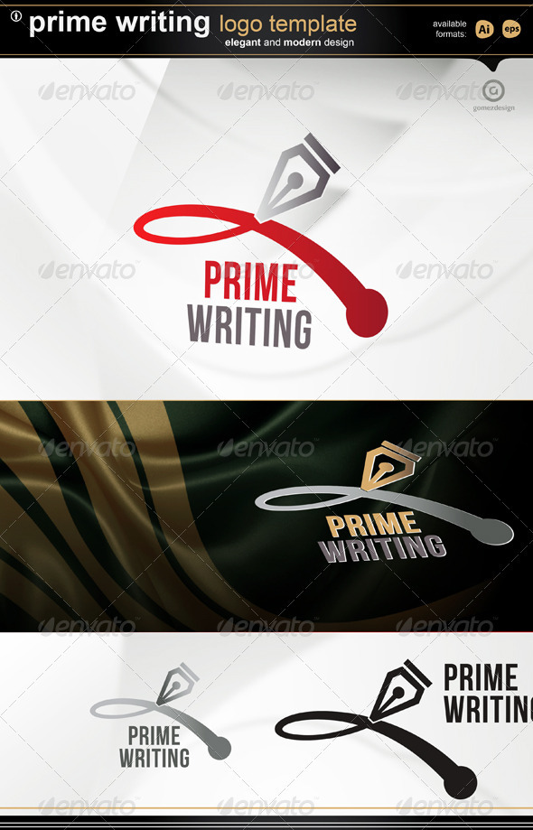 Prime Writing  - Objects Logo Templates