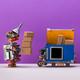 Robot uploads parcels into an autonomous delivery robotic courier truck. - PhotoDune Item for Sale