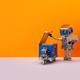 Robot storekeeper uploads parcels into an autonomous delivery robotic courier. - PhotoDune Item for Sale