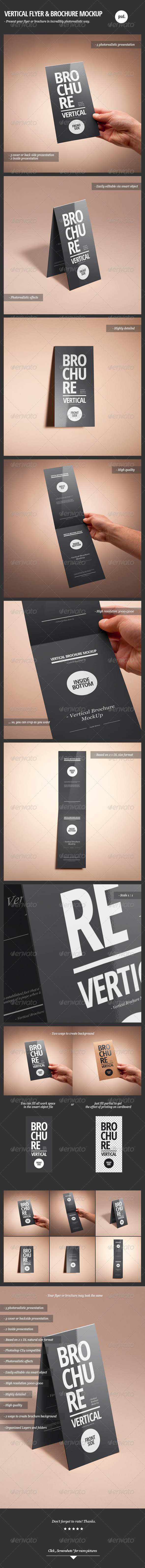 Vertical Flyer & Brochure Mock-Up - Brochures Print