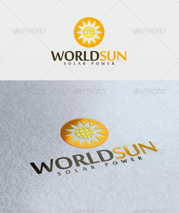 World Sun Logo - Objects Logo Templates