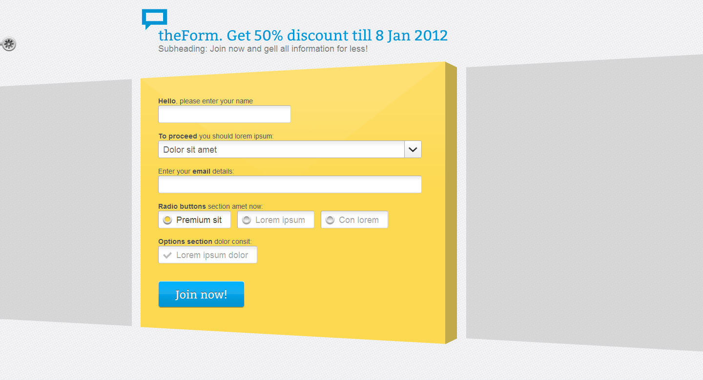 theForm HTML Sign up / Subscribe / Survey Landing