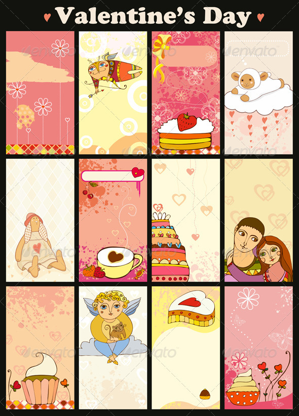 Love Card Vertical Set - Valentines Seasons/Holidays