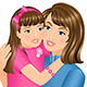 Daughter Hugging Her Mother - GraphicRiver Item for Sale