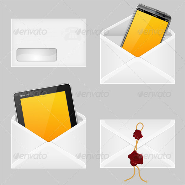 Envelopes with Smart Phone - Communications Technology