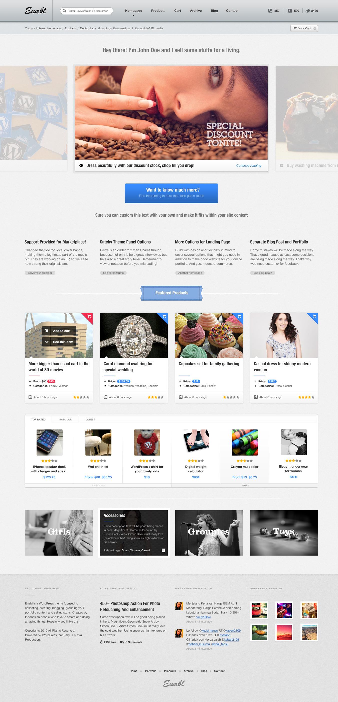 website store templates