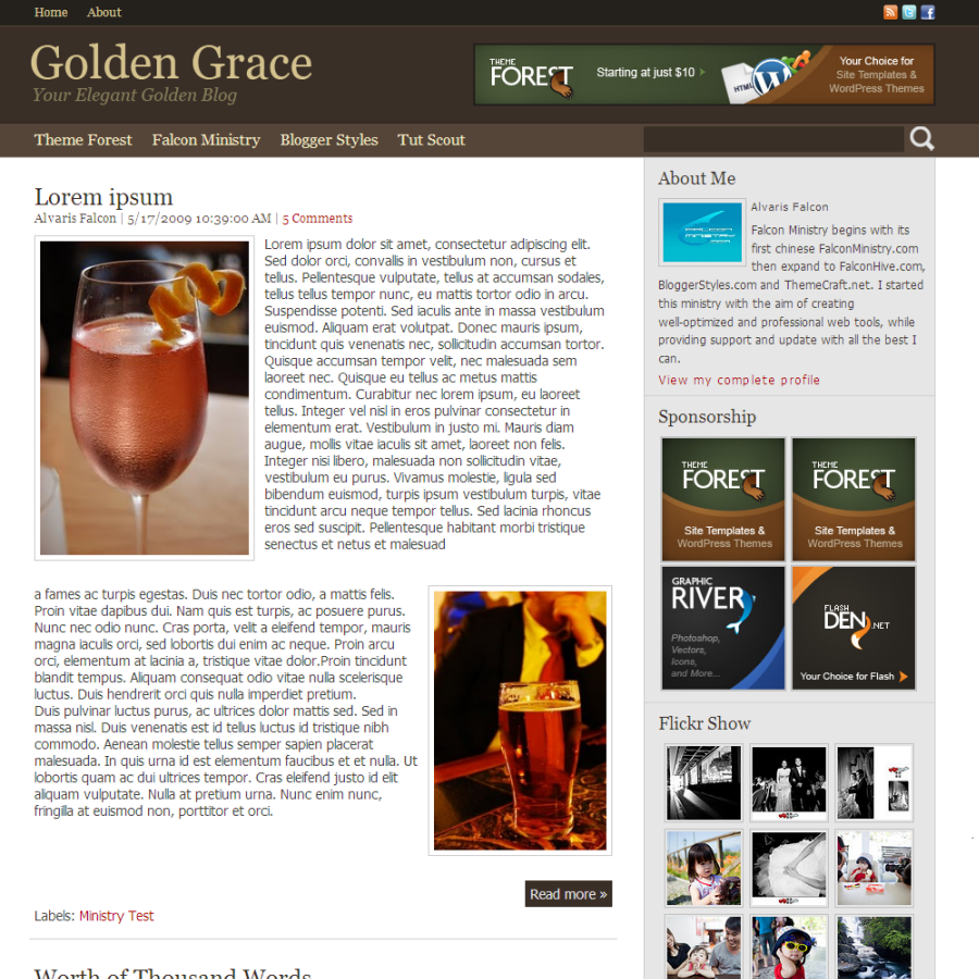 Free Download Golden Grace for Blogger Nulled Latest Version