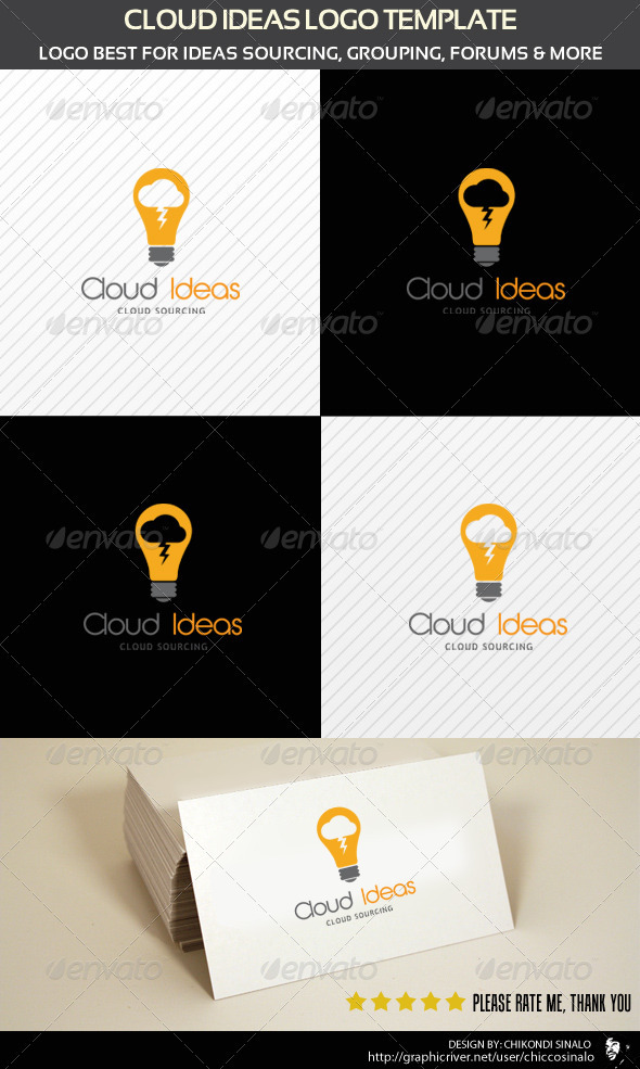 Cloud Ideas Logo Template - Abstract Logo Templates