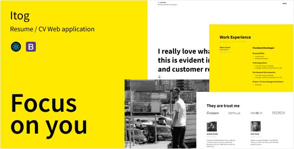 Itog - Resume React Web App