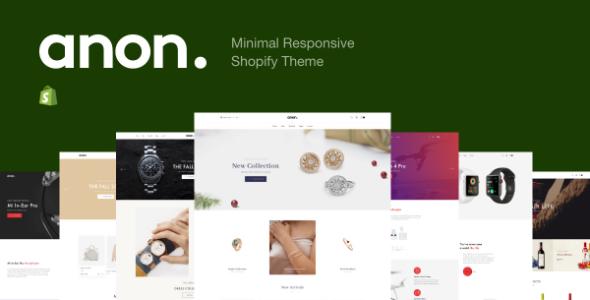Anon - Minimal Responsive Shopify Theme