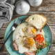 Fried eggs with pork ham. - PhotoDune Item for Sale