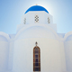 Santorini, church with blue cupola - PhotoDune Item for Sale
