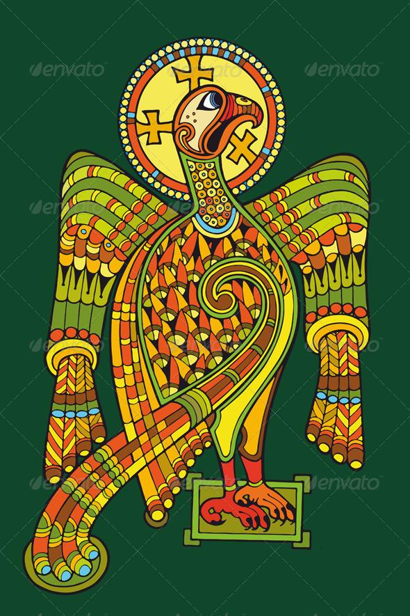 Eagle Heraldic - Animals Characters