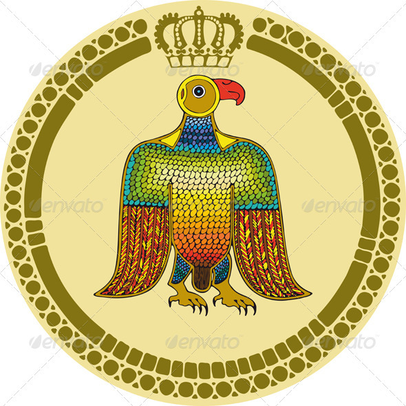 Eagle Round Emblem - Animals Characters