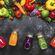 Colorful vegan vegetable juices and smoothies - PhotoDune Item for Sale