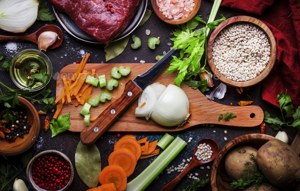 Food cooking background - Stock Photo - Images