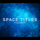 Particle Space Titles - VideoHive Item for Sale