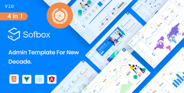 Sofbox Admin - 4 in1 Multipurpose Admin Dashboard with SoftUI