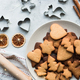 Christmas gingerbread on the table, top view - PhotoDune Item for Sale