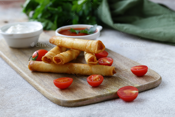 Snack Fried Pies with Cheese - Stock Photo - Images