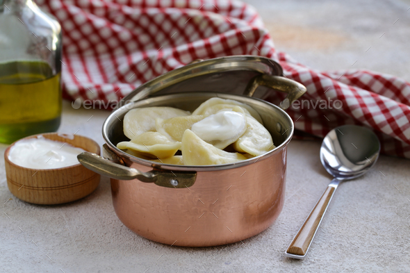 Traditional Dumplings with Potatoes - Stock Photo - Images