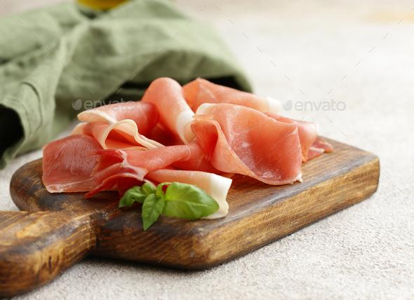 Smoked Prosciutto Ham - Stock Photo - Images