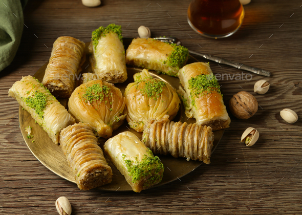 Oriental Sweets Baklava - Stock Photo - Images