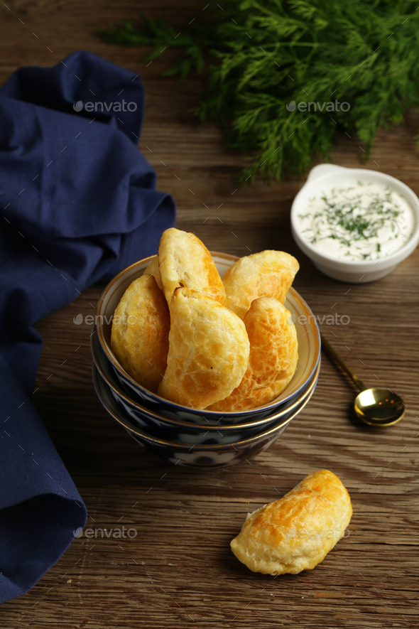 Snack Samosa Fried Pies - Stock Photo - Images