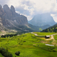 View of mountains and valley from Gardena pass, Dolomites Alps , Italy, Europe - PhotoDune Item for Sale