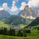 Sassongher peak and Corvara in Badia village in Dolomites Alps, Italy, Europe - PhotoDune Item for Sale