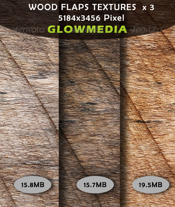 Wood Flaps Textures x 3 - Backgrounds Graphics
