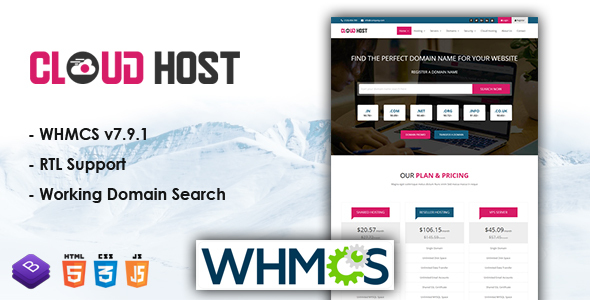 Cloud Host - WHMCS Responsive Hosting Template