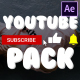 YouTube Subscribes Pack | After Effects - VideoHive Item for Sale