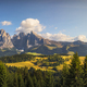 Alpe di Siusi or Seiser Alm and Sassolungo mountain, Dolomites Alps, Italy. - PhotoDune Item for Sale
