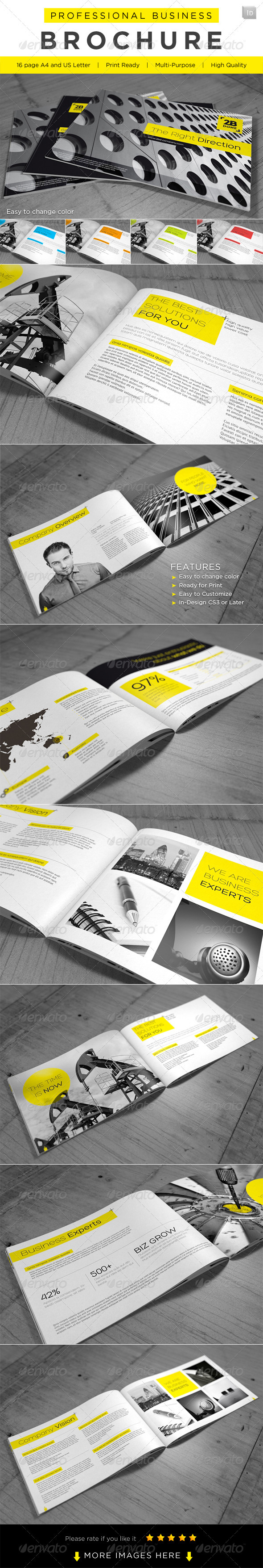 Professional Business Brochure - Brochures Print Templates
