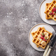Waffles with strawberries and banana - PhotoDune Item for Sale
