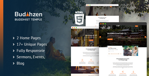 Budhzen | Buddha Temple HTML5 Template